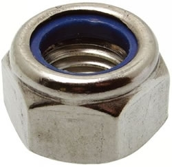 M6 ST/ST A4 HEX NYLOC NUTS DIN 985