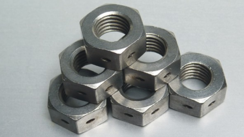 HEXAGON FULL NUTS WITH WIRELOCK HOLES